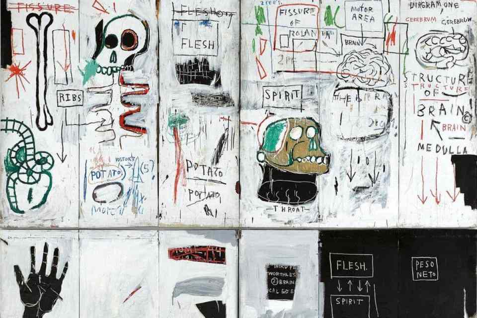 Jean-Michel-Basquiat-Flesh-and-Spirit-detail-1982-83